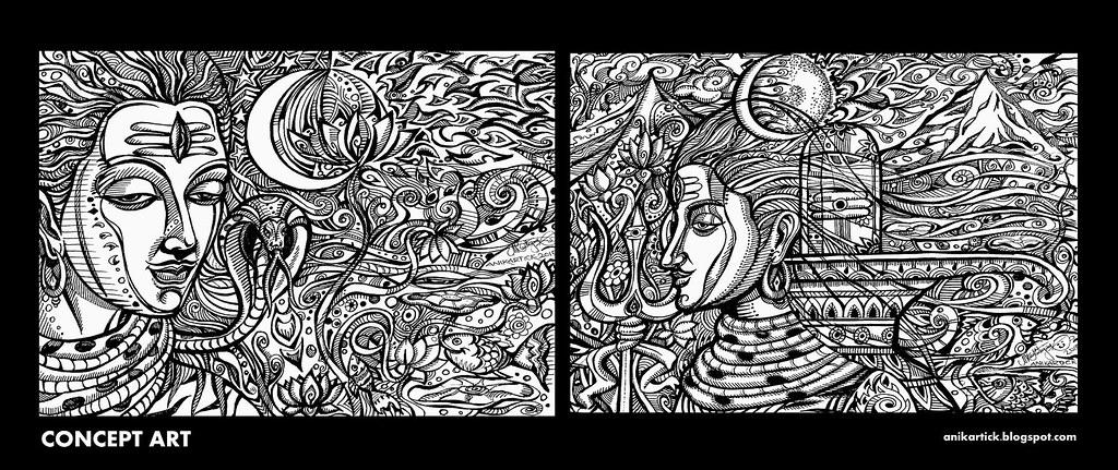 LORD SHIVA - DRAWING / SKETCH / DOODLES / ILLUSTRATION / C