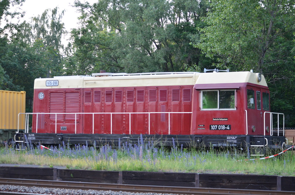 V75 018 (107 018-4) (9880 3 107 018-4 D-RPRS) Leipzig Thekla 04/06/2016 by ChrisDPom