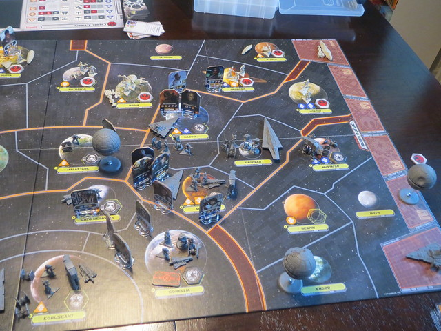 best star wars board games Star Wars Rebellion in play