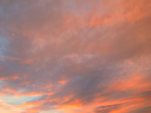 sunset sky reflection clouds colorado dusk montrose