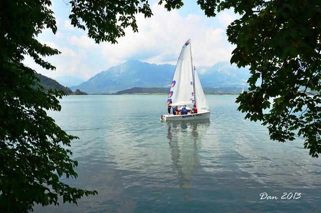 Scuola di vela al lago di S. Croce