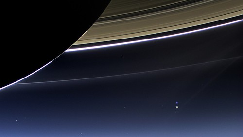 View of Earth from Saturn [annotated]