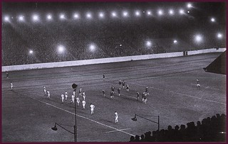 24th October 1951 - First game under floodlights at Odsal Stadium, BradfordOdsal floodlights | by Bradford Timeline
