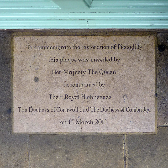 To commemorate the reconstruction of Piccadilly