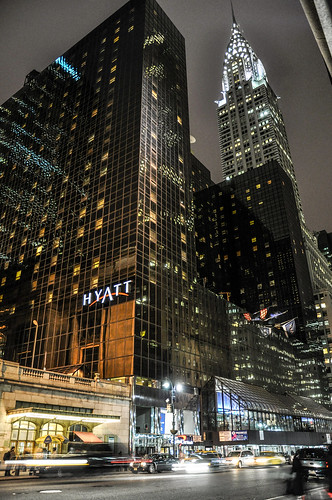 Chrysler Building and Grand Hyatt New York at night | by rjdibella