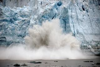 Hubbard Glacier calving Alaska.   by Bernard Spragg