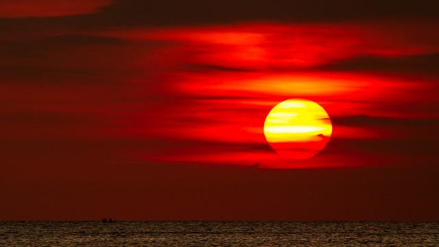 Sunset at jimbaran - bali