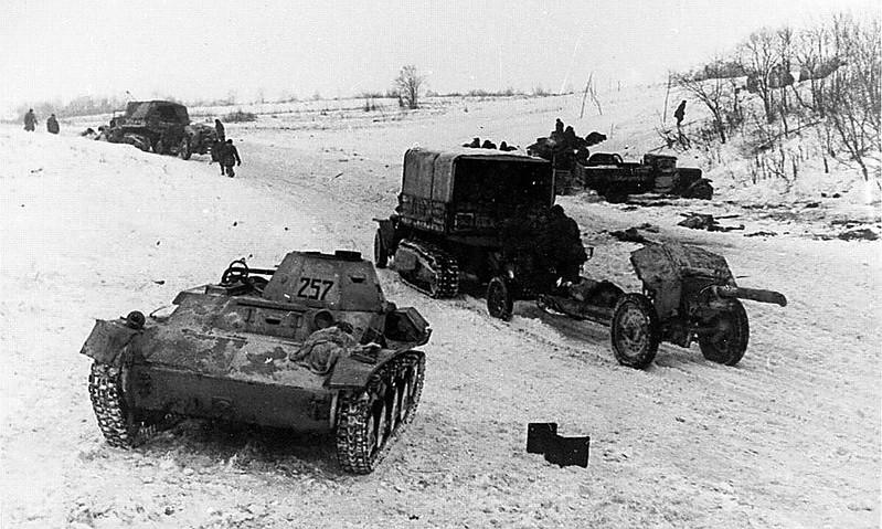 Soviet T60. Leningrad front