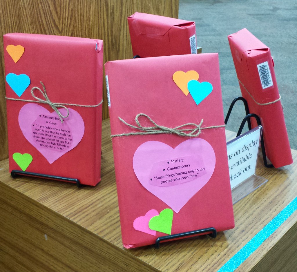 Blind Date with a Book 2015 | Our display celebrating Valent… | Flickr