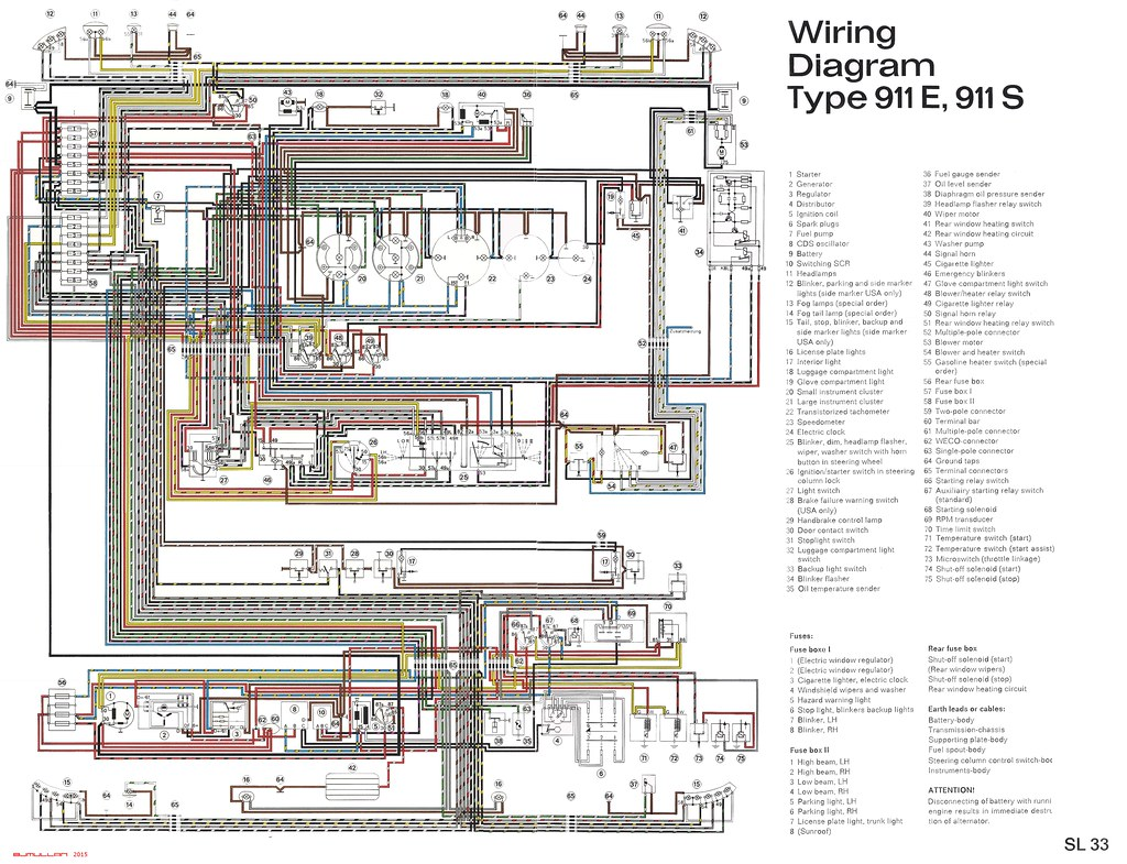 porsche 911 wiring diagram - sl33 | by bjmullan
