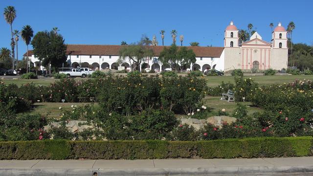 IMG_8624 Santa Barbara Mission Postel Rose Garden