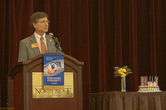 North Raleigh member and Past District Governor Matthew Kane talks about outgoing DG Newman Aguiar.