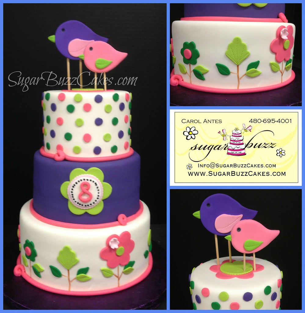 Terrific Whimsical Bird Birthday Cake Carol Flickr Funny Birthday Cards Online Alyptdamsfinfo