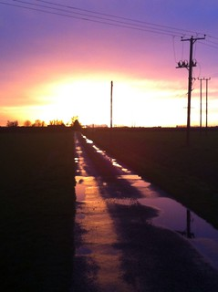 Goodbye Old Year Sunset Rampton Dec 2013