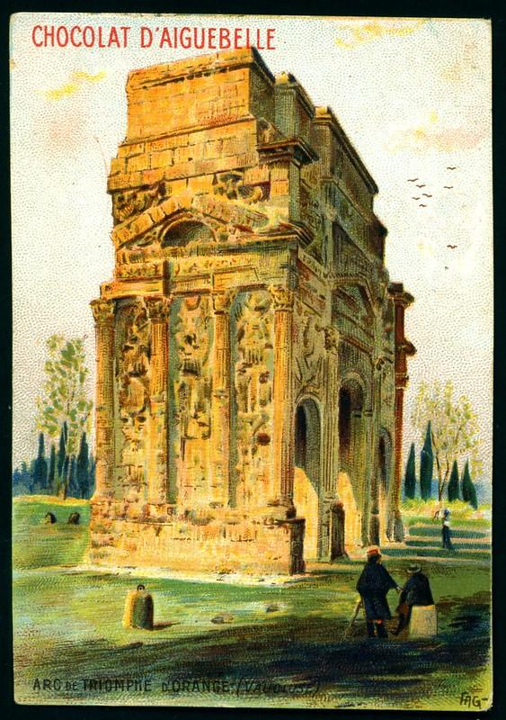French Tradecard - Arc de Triomphe, D'Orange