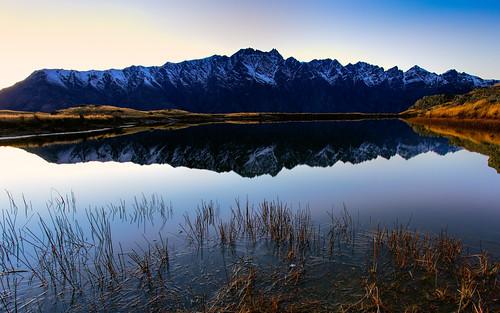 newzealand reflection ice otago queenstown
