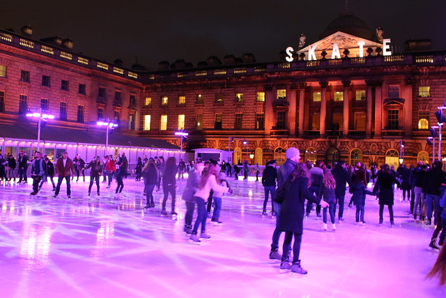 Skating Rink In Fountain Court at Somerset House, London
