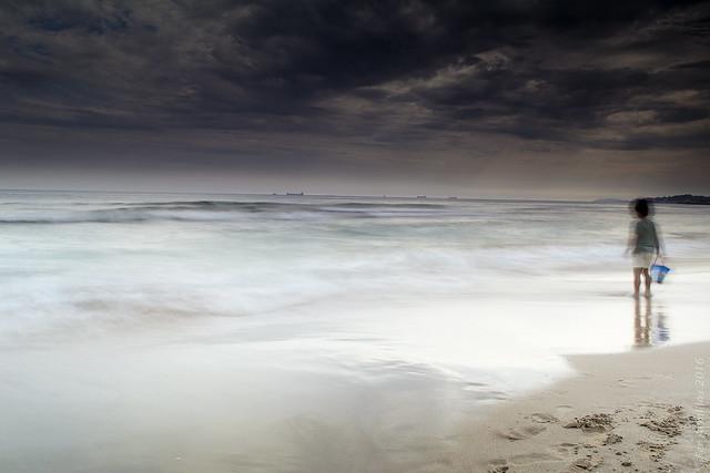 Las olas, con mis sueños.