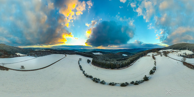 360° Winter Panorama in the Black Forest