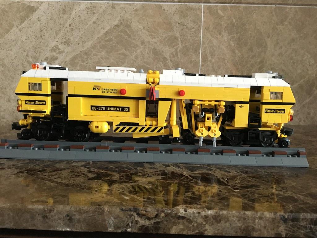 LEGO MOC Train-Plasser & Theurer 08-275UNIMAT 3S   Plasser
