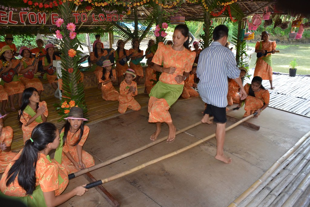 The bamboo pole dance