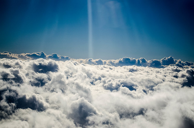 Just above the clouds