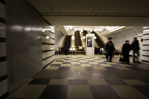 Blast doors at the transitions between station hall and escalator adit | by Marcus Wong from Geelong