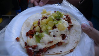 Taco al pastor con queso | by Ron Dollete