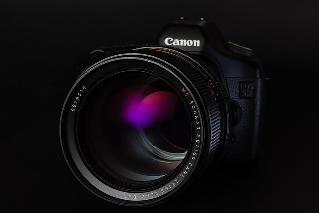 Canon EOES 5D with Carl Zeiss Jena Sonar 180mm f/2.8
