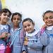 Primary school students in Gaza City.