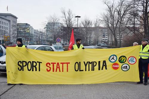 NOlympia Berlin: 12.02.15, Protest: WIR SPIELEN NICHT MIT!