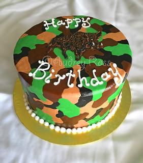 Outstanding Wild Hog Camo Birthday Cake Theres No Hiding This Delicio Flickr Funny Birthday Cards Online Elaedamsfinfo