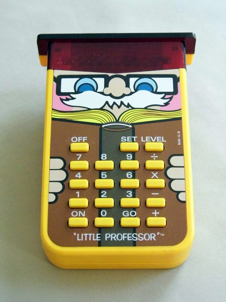 Vintage Texas Instruments 'Little Professor' Game Calculator, Made in USA, Cost Was $16.95, Circa 1976