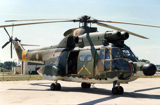 Aerospatiale SA.330S1 Puma 9503 01 Fairford 23.07.1989