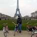 Eiffel Tower from Champ de Mars, Fat Tire Bike Tour, Paris by David McKelvey