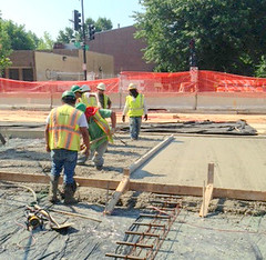 Concrete pour at 3rd & H