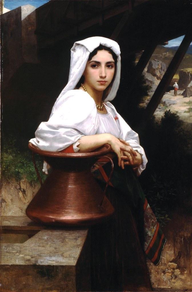 bouguereau_young_italian_girl_drawing_water_1871