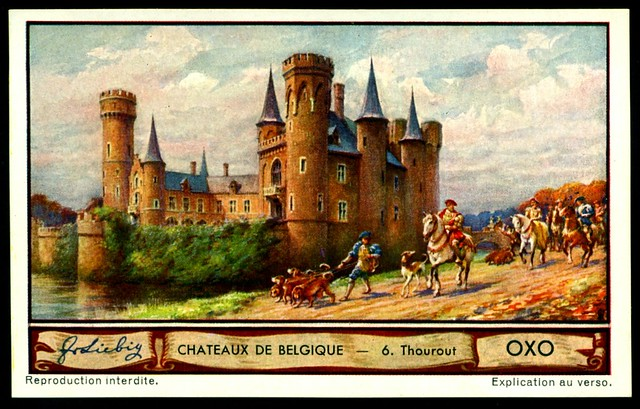 Liebig Tradecard S1288 Belgian Chateaux ~ Thourout