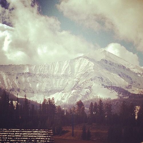 All dressed up and no place to go. #bigsky #snow #cantwaitforwinter | by Moonlight Basin