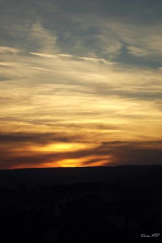 sunset sky clouds fujifilm