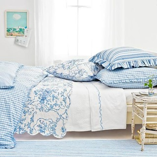 blue gingham toile | by Perry Wade