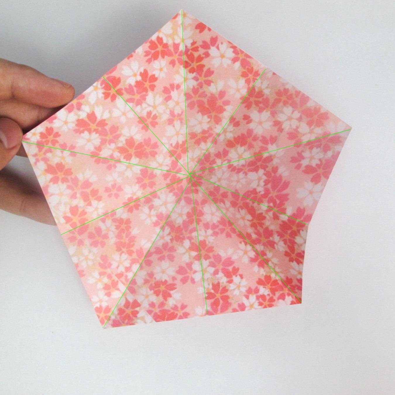 สอนวิธีการพับกระดาษเป็นดอกมะเฟือง (Origami Carambola) 004