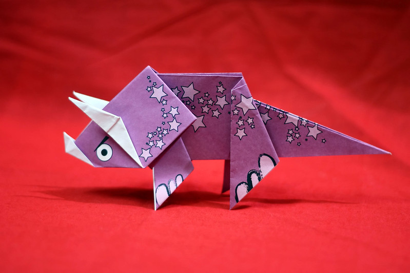 Origami Triceratops