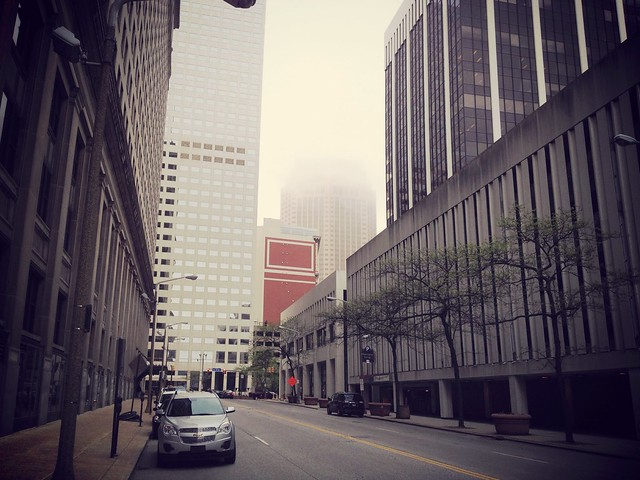 Low cloud day. #ThisIsCLE