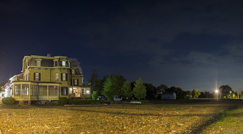 county street new old railroad panorama house st night stars long exposure main tracks nj rr jersey former flemington rubble hunterdon