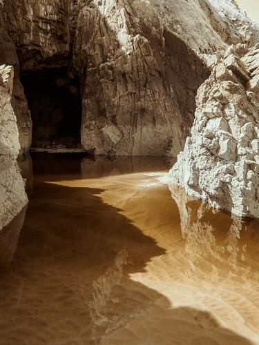 water reflections rocks europa europe shadows jersey infrared schatten channelislands je felsen reflektionen plemont stouen infrarot olympusepl5