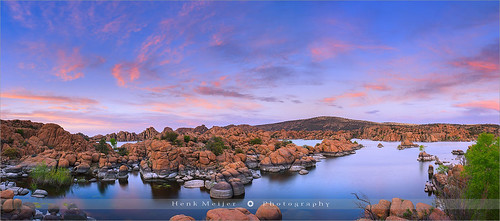 blue sunset arizona sky panorama cliff usa cloud lake reflection nature water rock horizontal stone clouds america canon reflections landscape outdoors photography reflecting evening landscapes rocks colorful day mood silent view dusk stones glory pano wide smooth peaceful tranquility atmosphere nopeople panoramic boulder boulders waters colourful shape prescott watsonlake rockformation wideview colorimage floydian leefilters canoneos1dsmarkiii henkmeijer