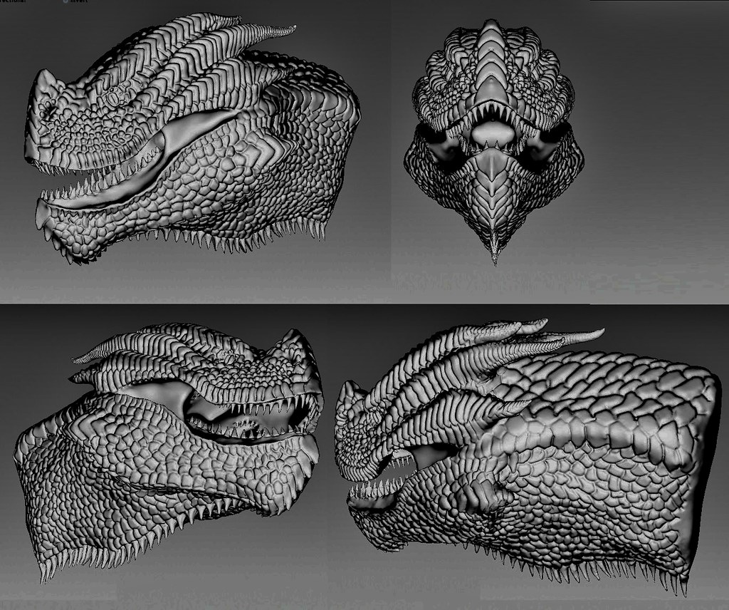 wyvern head | Sculptris | Petr Stuchlý | Flickr