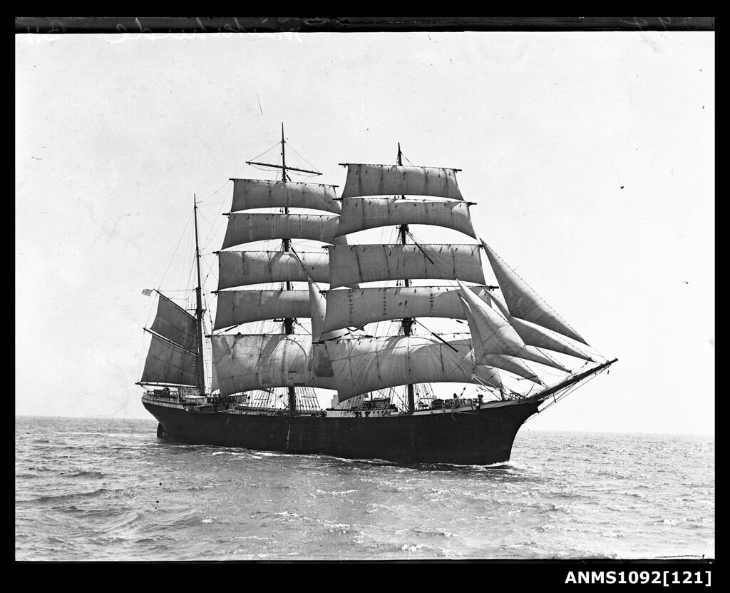 Three-masted barque WINTERHUDE | This photo is part of the A