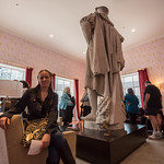Emily and the statues